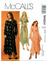 McCall's 4654 Uneven Hem Dress Size 10 - 16