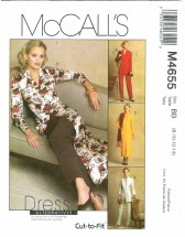 McCall's 4655 Misses Jackets Dress Duster Pants Size 8 - 14