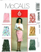 McCall's 4662 Misses Skirts in 6 Styles Size 4 - 10
