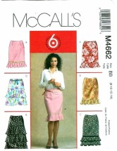 McCall's 4662 Misses Skirts in 6 Styles Size 8 - 14