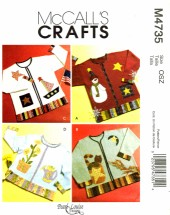 McCall's 4735 Crafts Sewing Pattern Seasonal Appliques Snowman Pumpkin Sailboat
