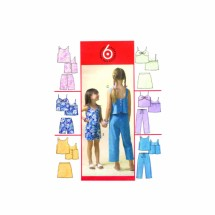 Girls Tops Skirts Shorts Capri Pants McCalls 4762 Sewing Pattern Size 10 - 12 - 14