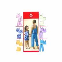Girls Tops Skirts Shorts Capri Pants McCalls 4762 Sewing Pattern Size 10 - 12 - 14