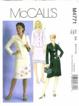 McCall's 4771 Misses Tops & Skirts Size 6 - 12