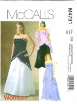 McCall's 4791 Women's Formal Lined Tops Skirt Stole Plus Size 18 - 24