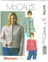 McCall's 4792 Misses Lined Jackets Size 26 - 32