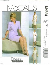 McCall's 4831 Misses Jacket Dress Tie Belt Skirt Size 16 - 22