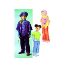 Girls Ponchos Pants Hat McCalls 4906 Sewing Pattern Size 4 - 5 - 6