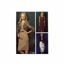 Misses Above Waist Jacket Straight Sleeveless Dress McCalls 4919 Sewing Pattern Size 10 - 12 - 14 - 16