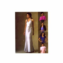 Misses Evening Halter Dress Wrap Cape Shrug McCalls 4920 Sewing Pattern Size 4 - 6 - 8 - 10