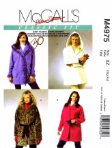 McCall's 4975 Fleece & Fur Jackets & Flower Size 20 - 26