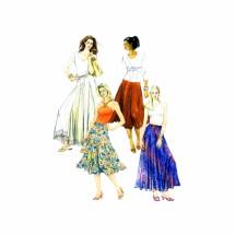 McCalls 5056 Misses Drawstring Waist Skirt Sewing Pattern Full Figure Size 16 - 18 - 20 - 22