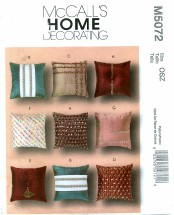 McCall's 5072 Decorative Pillows