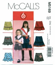 McCall's 5169 Girls Skirts Size 7 - 14