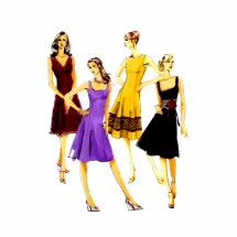 Princess Seam Flared Dress McCalls 5232 Sewing Pattern Size 6 thru 14