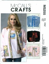 McCall's 5255 Crafts - Appliques for Cardigan & T-Shirt