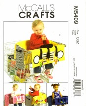 McCall's 5409 Crafts Sewing Pattern Shopping Cart Liners