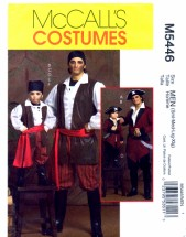 McCall's 5446 Sewing Pattern Mens Pirate Costumes Chest 34 - 48