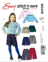 McCall's 5448 Top Skirt Gauchos Size 2 - 5