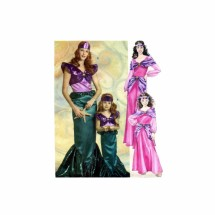Misses Mermaid and Princess Costums McCalls 5498 Sewing Pattern Size S - M - L - XL