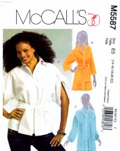 McCall's 5587 Sewing Pattern Misses Full Figure Shirts Size 14 - 22