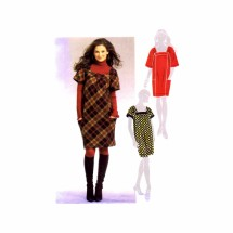 Misses Loose Fitting Dress McCalls 5702 Sewing Pattern Size 4-6-8-10-12