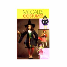Girls Witch Harry Potter Bo Peep Red Riding Hood Halloween Costumes McCalls 5728 Sewing Pattern Size 7 - 8 - 10 - 12 - 14