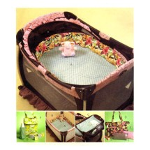 Baby Play Pen Bassinet Bumpers Diaper Bag Bottle Bag McCalls 5829 Sewing Pattern