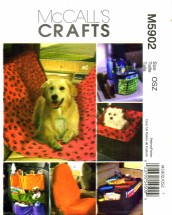 McCall's 5902 Crafts Sewing Pattern Car Organizers Pet Seat