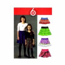 Girls Tiered Skirts McCalls 5920 Sewing Pattern Size 7 - 8 - 10 - 12 - 14