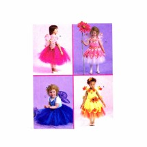 Girls Fairy Costumes McCalls 5950 Sewing Pattern Size 4 - 5 - 6