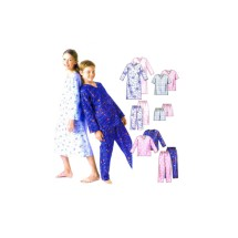 Boys and Girls Nightshirt Pajamas Tops Shorts Pants McCalls 479 Sewing Pattern Size 12 - 14 - 16