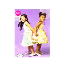 Girls Dress Petticoat Belt McCalls P304 Sewing Pattern Size 6 - 7 - 8