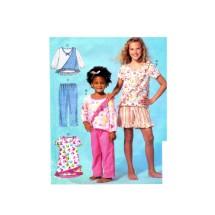Girls Top Dress Shorts Pants McCalls 477 Sewing Pattern Size 7 - 8 - 10 - 12 - 14