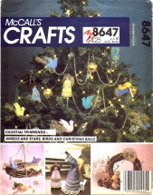 McCall's 8647 Tree Top Centerpiece Angel Ornaments Decorations