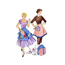 1950s Reversible Holiday Half Apron McCalls 1822 Vintage Sewing Pattern