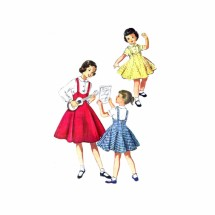 1950s Girls Blouse and High Waist Jumper McCalls 3772 Vintage Sewing Pattern Size 8 Breast 26