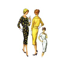 1950s Misses Dress and Jacket McCalls 4636 Vintage Sewing Pattern Size 16 Bust 36