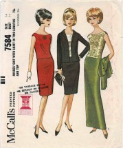 1960s Misses Suit with Skirt in Two Lengths and Top McCalls 7584 Vintage Sewing Pattern Size 14 Bust 34