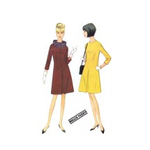 1960s Mollie Parnis Misses Dress and Scarf New York Designers Collection McCalls 8404 Vintage Sewing Pattern Size 12 Bust 32