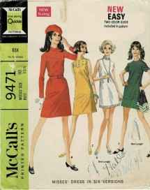 1960s Misses Dress in Six Versions McCalls 9471 Vintage Sewing Pattern Size 10 Bust 32 1/2