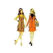 1970s Misses Jacket Skirt Vest McCalls 2519 Vintage Sewing Pattern Size 14 Bust 36