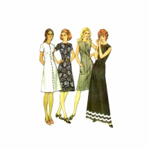 1970s Misses Dress McCalls 3133 Vintage Sewing Pattern Size 10 Bust 32 1/2