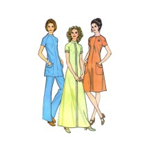 1970s Misses Dress Tunic Pants McCalls 3160 Vintage Sewing Pattern Size 12 Bust 34