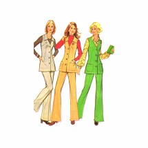 1970s Misses Vest and Pants McCalls 3313 Vintage Sewing Pattern Size 12 Bust 34