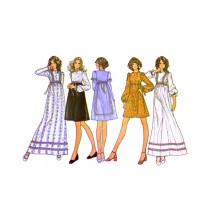 McCalls 3372 Misses Boho Empire Waist Dress Vintage Sewing Pattern Size 10 Bust 32 1/2
