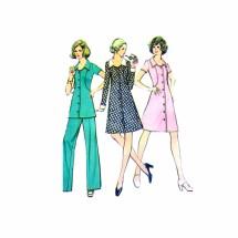 Misses Dress Tunic Pants McCalls 3499 Vintage Sewing Pattern Size 12 Bust 34
