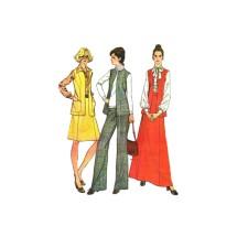1970s Misses Vest Skirt Pants McCalls 3882 Vintage Sewing Pattern Size 12 Bust 34