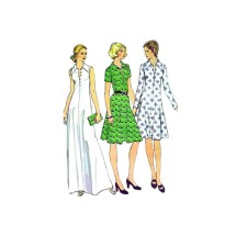 1970s Misses Dress McCalls 4059 Vintage Sewing Pattern Size 12 Bust 34