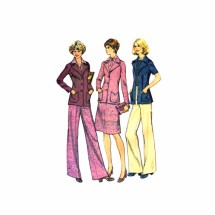 1970s Misses Unlined Jacket Skirt Pants McCalls 4271 Vintage Sewing Pattern Size 12 Bust 34
